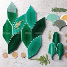 What shape do you love the most? A refreshing glazed tones and chic texture will… – Leaf Tiles Mosaic Art, Mosaic Glass, Mosaic Tiles, Waste Material Project, Mosaic Supplies, Mosaic Backsplash, Handmade Tiles, Decorative Tile, Leaf Shapes