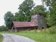 Old iron ore furnace in Cripple Creek, Va just down the road from where my dad grew up.