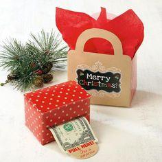 Kraft Money Dispenser & Gift Bag Set $6.00