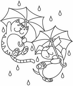 Embroidery Designs at Urban Threads - Raining Cats and Dogs
