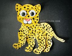 Free Printable Jaguar Craft for Rainforest theme