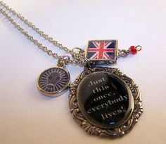 Dr Who Necklace--- Because sometimes people think I'm too normal