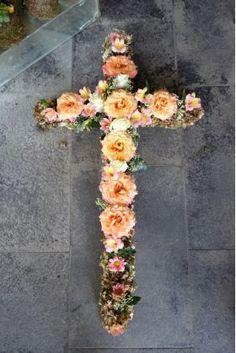 ჯვარი Crosses, Funeral, Floral Wreath, Wreaths, Decor, Decorating, Flower Crowns, Door Wreaths, Deco Mesh Wreaths