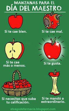 el profesor se merece una manzana?