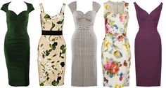 Colourful and Floral Wiggle Dresses for Spring / Summer 2013 | Vintage Tea Roses