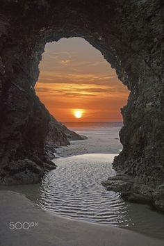 Perranporth Beach, Cornwall. UK by Megan Dykes, 500px