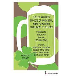 St. Patricks day Party invitations- St Patty's day