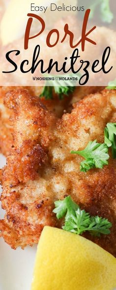 Delicious Pork Schnitzel by Noshing With The Nolands is an inexpensive and quick meal to prepare. Your family will love it!Easy Delicious Pork Schnitzel by Noshing With The Nolands is an inexpensive and quick meal to prepare. Your family will love it! Chicken Snitzel Recipe, Meat Recipes, Cooking Recipes, Ground Pork Recipes Easy, Quick Pork Chop Recipes, Cubed Pork Recipes, Healthy Pork Recipes, Recipies, Sweets