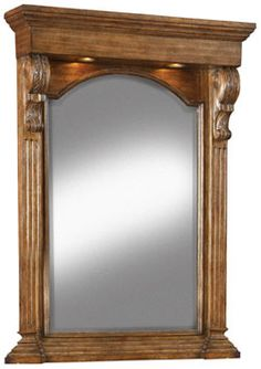 "33"" Paolo Lighted Mirror by Ambella Home 08960-140-033 #BlondyBathHome #BathroomRemodel #Mirror #BathroomMirror"
