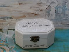 Ring Bearer Box Wedding Ring Box Personalized by InspirellaDesign