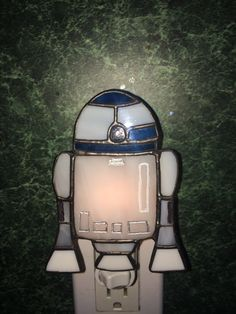 This beloved Star Wars Friend is handcrafted stained glass secured to a standard nightlight with an on/off switch. Stained Glass Night Lights, Stained Glass Lamps, Stained Glass Patterns, Star Wars Room, Nightlights, Tile Art, You Are The Father, Etsy, Stars