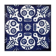 Mexican Tiles Mix Box of 100 Talavera Tiles Hand Painted 5 Colonial Patterns F80