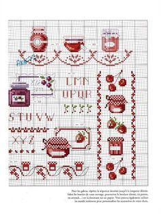"""""""Fruits rouges"""" from 'Douceurs & gourmandises au point de croix' by Veronique Enginger"""