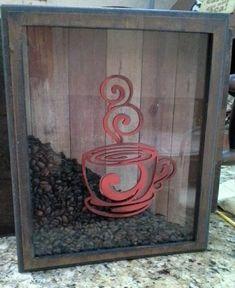 Eliane Artesanato: Quadro grãos de café