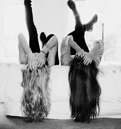 cute sister picture idea. We have to do this next time we see each-other!!!:) @Liza Flores Norman
