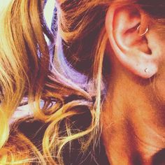 Forward Helix Hoop, I actually like this, but that might be too many hoops on one side for me