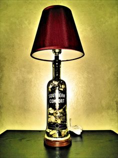 The Spirit Lamp Co. Custom made liquor bottle lamp's for your desk, bar or man cave! You and your friends will love this unique high quality lamp for years to come. Bottle Lamps, Glass Lamps, Mason Jar Crafts, Mason Jars, Home Fireplace, Wall Lighting, Liquor Bottles, Southern Comfort, Selling On Ebay