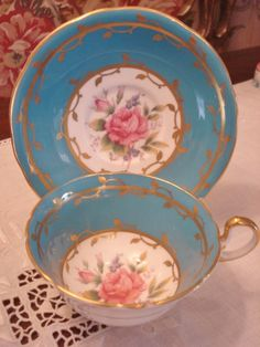 Vintage Aynsley Cup Saucer English Bone China by GraceandPlenty, $68.00