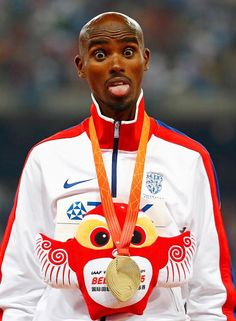 World Athletics Championships 2015: day eight – in pictures   Sport   Even on the podium he can't resist goofing around