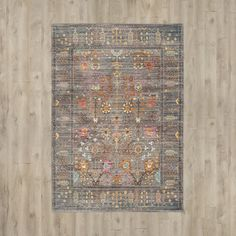 Features:  -Power loomed.  -Machine made.  -Colors: Grey, taupe, pink, aqua, mustard and teal.  -Global Inspired style.  Technique: -Machine woven.  Product Type: -Area Rug.  Material Details: -Polyes