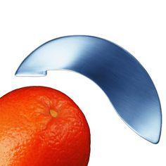 CITRO - Orangenschäler - Ein elegantes Schmuckstück zum täglichen Gebrauch. Die Schale läßt sich mit der scharfen Spitze in Streifen schneiden und bequem abheben.