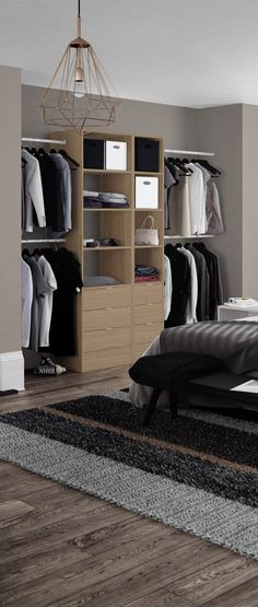 Our Tower Unit in Natural Oak allows you to get the maximum storage out of your space, with a combination of shelving and drawer options to suit your needs. Fitted Wardrobe Interiors, Bedroom Closet Design, Bedroom Storage, Contemporary Closet Organizers, Bedroom Decor For Couples, Bedroom Ideas, Wardrobe Storage, Small Closets, Simple Bed
