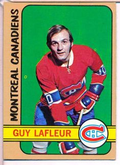 Guy LaFleur 1972 O-Pee-Chee Montreal Canadiens Montreal Canadiens, Hockey Cards, Baseball Cards, Hockey Hall Of Fame, Nhl Season, Nhl Players, Sports Figures, Ice Hockey, Canada