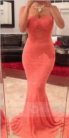 Mermaid Sweetheart Evening Dresses 2018 Sleeveless Sweep Train Party Gowns_Evening Dresses Dresses_Special Occasion Dresses_Buy High Quality Dresses from Dress Factory Evening Dress 2015, Lace Evening Dresses, Ball Dresses, Elegant Dresses, Pretty Dresses, Evening Gowns, Beautiful Dresses, Prom Dresses, Dresses 2016