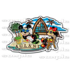 DISNEY Aulani Resort Hotel st Die Cut Title or Printed Scrapbook Paper Piece by DScrapbookclipart on Etsy