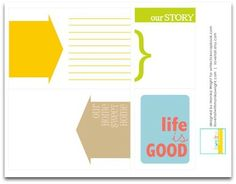 Project Life Cards: journaling cards: note cards: free download, free printable