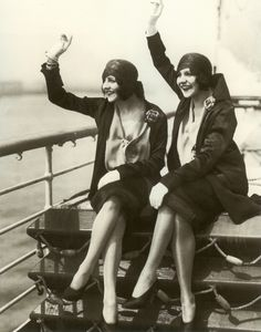 The Singing Dolly Sisters Set Sail (New Years Day, 1927)