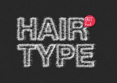 HAIR Type  Handmade Free Font