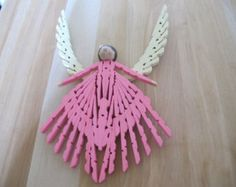 Large Clothespin Angel Pink