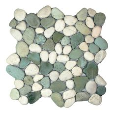 Buy Sea Green and White Pebble Tile at Discount Prices! Free Shipping & Low Price Guarantee! subway tile outlet