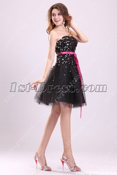 cf10748cb3 1st-dress.com Offers High Quality Pretty Black Sequins Sweet 16 Dresses for  Birthday