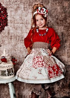 Made to match the Sophie Joy & Bella Noel Christmas dresses by Corinna Couture Chunky Necklace for Little Girls