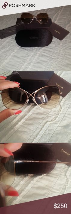 NWT Tom Ford Sunglasses NWT Tom Ford Sunglasses. Got them as a gift just didn't like the butterfly style on my face. Offers are welcome. Bundle and Save on shipping 😄 Tom Ford Accessories Sunglasses