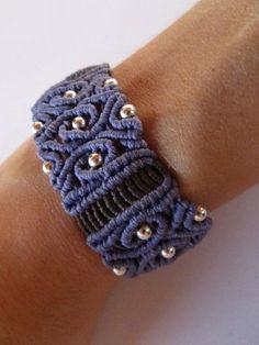 Macrame bracelet with silver beads. €28.00, via Etsy.