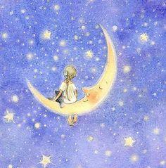 Moon girl cat
