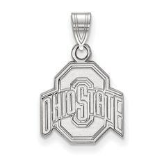 925 Sterling Silver Rhodium-plated Laser-cut Missouri Western State University XL Enameled Disc Pendant