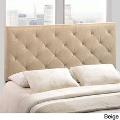@Overstock - Theodore Queen Linen Tufted Headboard - Refine your bedroom decor with the sophisticated Theodore headboard. Available in either beige or grey linen, this stylish headboard features deep button tufting to create charming diamond shapes that will add a touch of class to any bedroom.  http://www.overstock.com/Home-Garden/Theodore-Queen-Linen-Tufted-Headboard/8676957/product.html?CID=214117 $148.98
