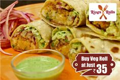 Buy #Rings #And #Rolls #special #Veg #Roll Just Rupees 35/- Download Now:-goo.gl/LpEJqG  #food #onlinemobileapp #foodlovers #like4like #foodlove #discountoffer #party #cafe #healthyfood #healthylifestyle