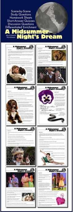 Grab your students' attention and pull them into your study of Shakespeare's A Midsummer Night's Dream. Click here for vibrant handouts and compelling discussion starters.