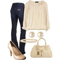 """""""Cream"""" by vintagesparkles78 on Polyvore"""