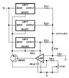 Luz de emergencia con diodos LED. Diagrama de sistema de