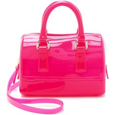 Furla Candy Sweetie Mini Satchel ($135) ❤ liked on Polyvore featuring bags, handbags, purses, bolsas, hot pink, man bag, satchel purses, mini purse, pink satchel handbags and pink satchel purse