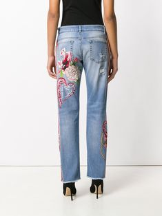 Dolce & Gabbana tiger patch denim jeans