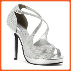 Touch Ups Womens Dana, Silver Shimmer, Size 11 B(M) US Medium with free SoleMates Heel Accessory - Pumps for women (*Amazon Partner-Link)