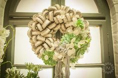 Burlap Wreath, Wreaths, Design, Home Decor, Decoration Home, Door Wreaths, Room Decor, Burlap Garland