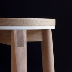 Introducing the Crop bar stool – a solid American Oak stool featuring a white powder-coated aluminium accent, exposed joinery and timber rails. Bespoke Furniture, Design Furniture, White Furniture, Wooden Furniture, Cool Furniture, Furniture Outlet, Furniture Ideas, Crea Design, Woodworking Furniture